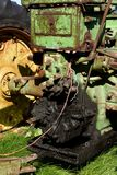 Leaky seals on a tractor transmission and rear end Royalty Free Stock Photography