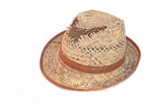 Leaky Straw Hat Stock Image