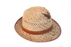 Leaky Straw Hat Royalty Free Stock Images