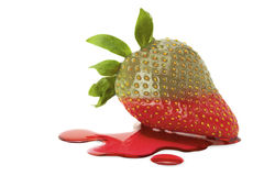 Leaky strawberry Royalty Free Stock Photos
