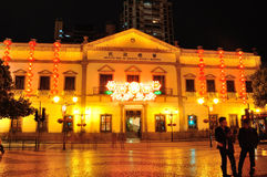 Free Leal Senado Building Night Stock Photo - 53246930