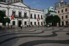 Leal Senado Plaza, Macao Stock Photos