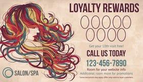 A lealdade do salão de beleza recompensa o molde do cartão Imagens de Stock Royalty Free
