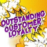 Lealdade proeminente do cliente - palavras do estilo da banda desenhada ilustração stock
