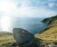 Leam krating synvinkel av den phuket ön Arkivbild