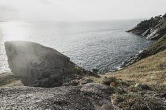 Leam krating synvinkel av den phuket ön Arkivfoto