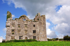 Leamanagh Castle,county clare, ireland. Old irish castle Stock Image
