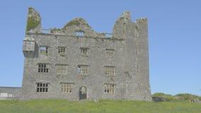 Leamaneh castle in Burren, Co. Clare - Ireland stock footage