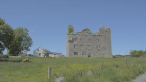 Leamaneh castle in Burren, Co. Clare - Ireland stock video