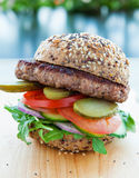 Lean beef burger Stock Photography