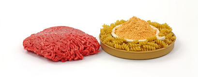 Lean Beef Pasta and Sauce Mix Royalty Free Stock Photos