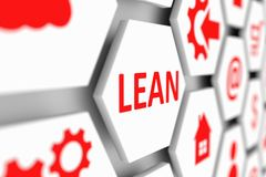 LEAN concept cell. Blurred background 3d illustration Royalty Free Stock Photography