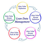 Lean Data Management. Diagram of Lean Data Management Royalty Free Stock Photo