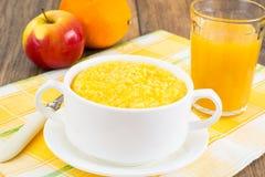 Lean food corn porridge. Studio Photo royalty free stock photos