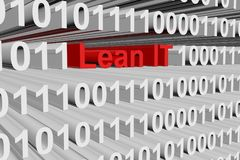 Lean IT. In the form of binary code, 3D illustration Stock Photography