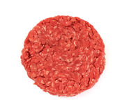 Lean Ground Beef Patty. A single thick lean ground beef patty Stock Images