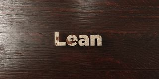 Lean - grungy wooden headline on Maple  - 3D rendered royalty free stock image Royalty Free Stock Photography