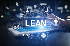 Lean manufacturing. Quality and standardization. Business process improvement. Lean manufacturing. Quality and standardization. Business process improvement royalty free illustration