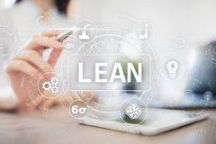 Lean manufacturing. Quality and standardization. Business process improvement. Lean manufacturing. Quality and standardization. Business process improvement stock photography