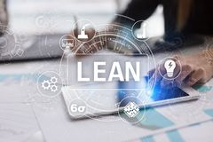 Lean manufacturing. Quality and standardization. Business process improvement. Lean manufacturing. Quality and standardization. Business process improvement royalty free stock images