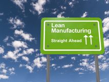 Lean manufacturing sign Royalty Free Stock Photography