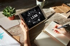Lean manufacturing. Six sigma technology and business concept. Lean manufacturing. Six sigma technology and business concept royalty free stock photos