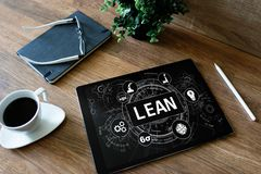 Lean manufacturing. Six sigma technology and business concept. Lean manufacturing. Six sigma technology and business concept royalty free stock photography