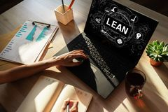 Lean manufacturing. Six sigma technology and business concept. Lean manufacturing. Six sigma technology and business concept stock photography