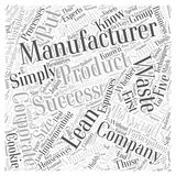 Lean manufacturing success word cloud concept word cloud concept  background. Text Stock Image