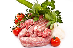 Lean meat mixture for sauce Royalty Free Stock Image