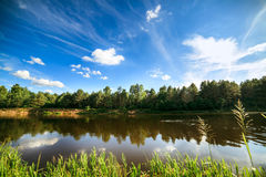 Сlean river Royalty Free Stock Images