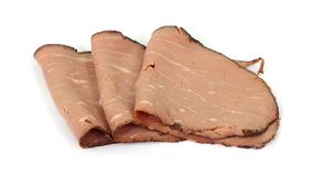Lean Roast Beef Slices Arranged Stock Photography