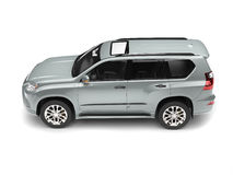 Lean silver modern family SUV Royalty Free Stock Photo