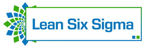 Lean Six Sigma Green Blue Circular Box Royalty Free Stock Image
