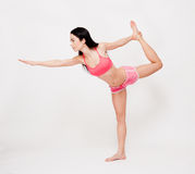 Lean and strong yoga girl. Portrait of a beautiful lean and strong yoga girl Royalty Free Stock Photos