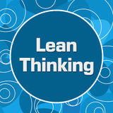 Lean Thinking Blue Random Rings Circle Royalty Free Stock Image