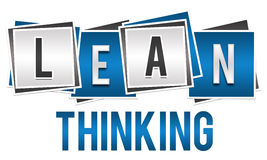 Lean Thinking Blue Silver Blocks Stock Image