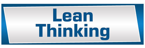 Lean Thinking Blue Silver Horizontal Royalty Free Stock Photos