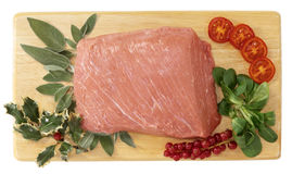 Lean veal for Christmas dinner Royalty Free Stock Photography