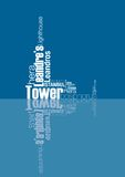 Leander's tower. Lighthouse was created with typographic design Stock Photo