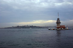 Leander's tower 3. Leander's tower, istanbul, turkey Royalty Free Stock Photo