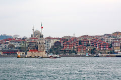 Leanders Tower. On front of Istanbul cityscape Royalty Free Stock Photos
