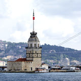 Leanders Tower. Istanbul. Leander's Tower, well known Bosporus landmark. Istanbul - Turkey Royalty Free Stock Photography