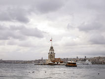 Leanders Tower, Istanbul Stock Images