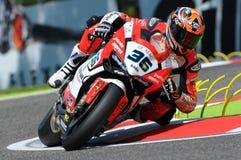 Leandro Mercado Ducati Panigale R SBK Imola 2015 images stock