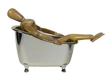 Leaned Back in a Bathtub Stock Photo