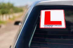 Leaner driver Royalty Free Stock Photo