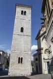 Leaning Bell Tower in Rijeka, Croatia Stock Image