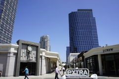 The Leaning Building of Westfield, Sta. Monica Stock Photography