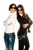 Leaning on each other Royalty Free Stock Photos
